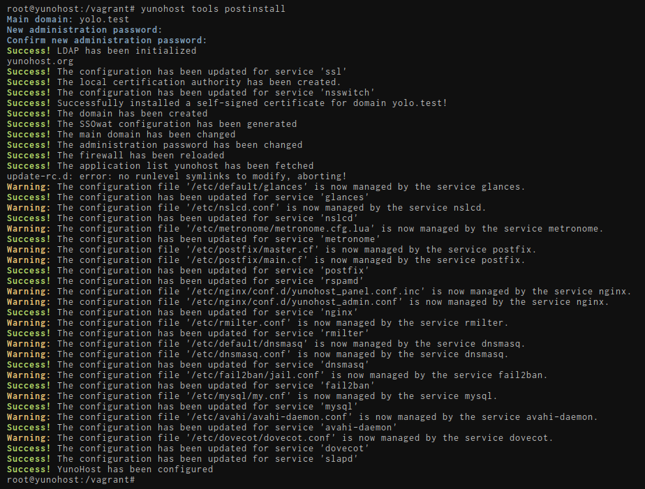 Initial configuration with CLI